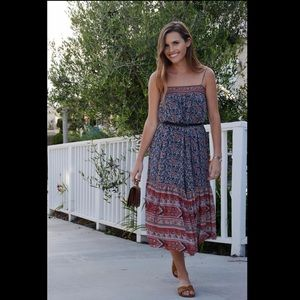 ULLA JOHNSON gorgeous silk print midi - 0